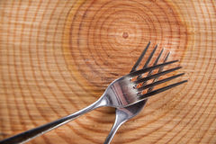 Sets of forks Royalty Free Stock Photography