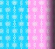 Sets Geometric patterns, pink, blue Royalty Free Stock Photos