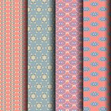 Sets Geometric patterns, pink, blue Stock Photo
