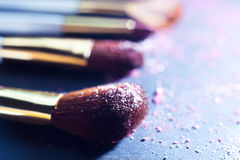 Sets makeup brush Royalty Free Stock Image