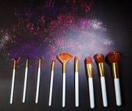Sets makeup brush Stock Photography