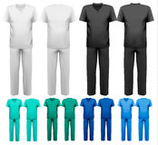 Sets of medical/doctor clothes. Royalty Free Stock Images