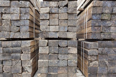 Sets of  old wooden sleepers Royalty Free Stock Images