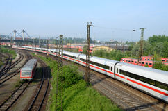 Sets the passenger train in  terminal -  Ulm Stock Photos