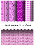 Sets pattern  purple pattern Royalty Free Stock Photo