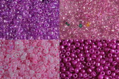 Sets of pink beads. Four options of a shade and size pink beads it is photographed very largely Royalty Free Stock Photography