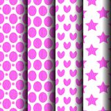 Sets pink pattern. Can be used endlessly Stock Photo