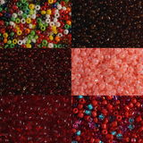 Sets of red beads Stock Photography