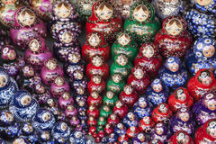 Sets of Russian dolls Stock Photos