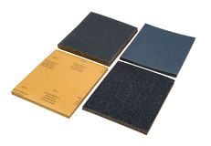 4 Sets Sand papers Royalty Free Stock Photography