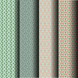 Sets Seamless pattern leaves. Sets Seamless pattern, patterned tiles, fabrics, wallpaper, paper. Which can be used endlessly Stock Photo