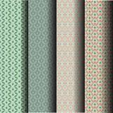 Sets Seamless pattern leaves Stock Photo