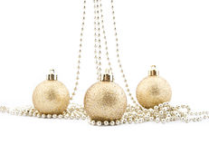 Sets of shining Christmas-tree decorations Royalty Free Stock Photo
