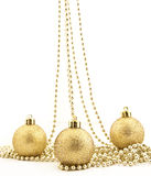 Sets of shining Christmas-tree decorations Stock Images