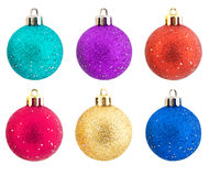 Sets of shining Christmas-tree decorations Stock Photography