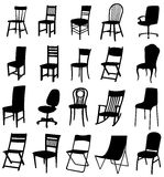 Sets of silhouette chair 2 Stock Images