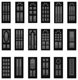 Sets of silhouette doors, create by vector. Royalty Free Stock Photo