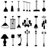 Sets of silhouette lamps. With various design, create by Stock Image