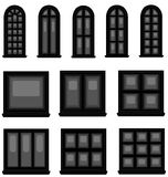 Sets of silhouette windows, create by vector Stock Photo
