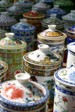 Sets of vintage china cups Royalty Free Stock Photography