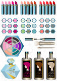 Sets women cosmetics Royalty Free Stock Images