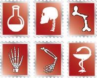 setstämplar för medicin 92a stock illustrationer