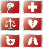 setstämplar för medicin 92b royaltyfri illustrationer