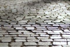 Sett stones on street Stock Image