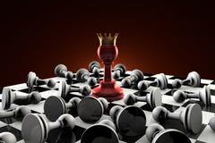 Setta (società segreta) Metafora di scacchi Immagine Stock