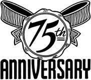 settantacinquesimo anniversario Fotografie Stock