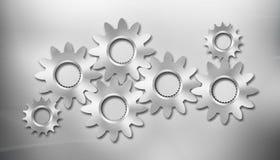 Sette attrezzi del metallo sulla priorità bassa del metallo Immagini Stock Libere da Diritti
