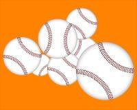 Sette baseball Fotografie Stock