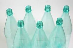 Sette bottiglie di plastica Fotografia Stock Libera da Diritti