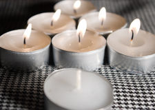 Sette candele Fotografie Stock