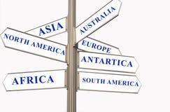 Sette continenti Immagine Stock Libera da Diritti