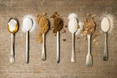 Sette cucchiaini di zucchero un il giorno Fotografia Stock Libera da Diritti