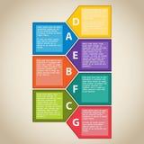 Sette elementi semplici per il infographics illustrazione di stock