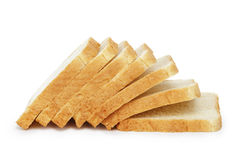 Sette fette di pane del pane tostato Immagine Stock