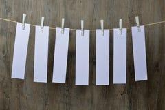 Sette fogli di carta attaccatura immagini stock libere da diritti