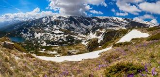 Sette laghi Rila, montagne di Rila, Bulgaria Immagini Stock Libere da Diritti