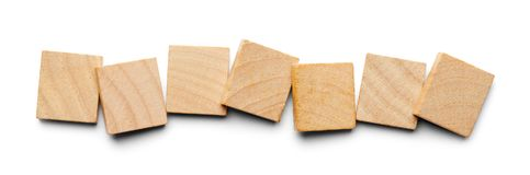 Sette mattonelle di legno immagini stock