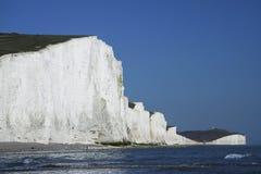 Sette scogliere di gesso delle sorelle Sussex Inghilterra Fotografia Stock