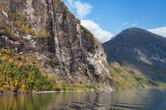 Sette sorelle cascata in autunno Immagine Stock Libera da Diritti