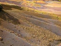 Sette terre di Chamarel Mauritius Immagini Stock