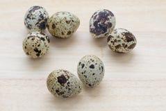 Sette uova di quaglie Fotografie Stock Libere da Diritti
