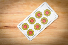 Settebello van het kaartenspel Royalty-vrije Stock Afbeelding