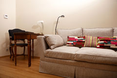 Settee in living room Stock Images
