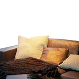 Settee pillows Royalty Free Stock Images