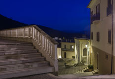 Settefrati by night, stairs, Ciociaria, Valle di Comino, Frosinone Stock Photos
