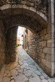Settefrati at sunset, alley, Ciociaria, Valle di Comino, Frosinone. Italy Royalty Free Stock Photos